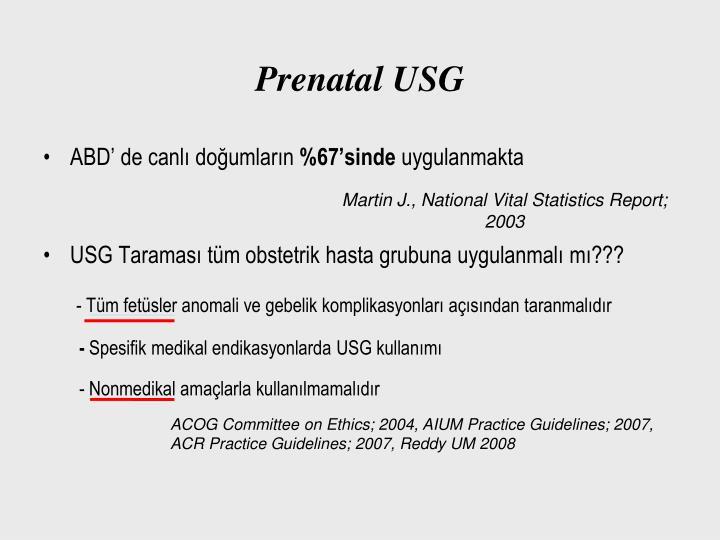 Prenatal USG