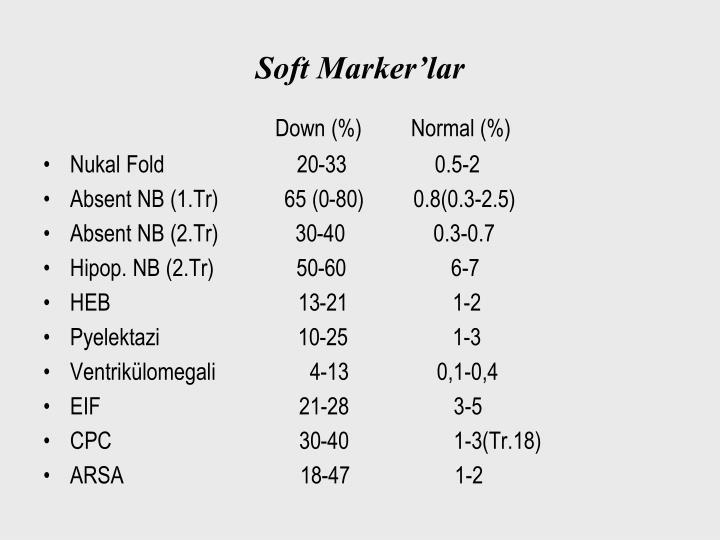 Soft Marker'lar