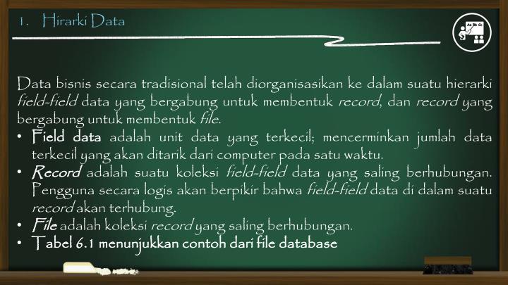 1.    Hirarki Data