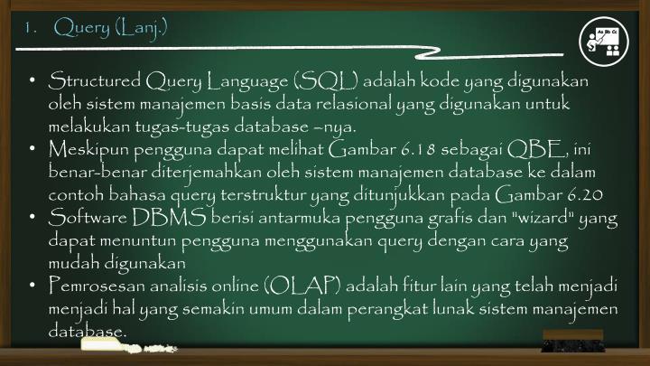 1.    Query (Lanj.)