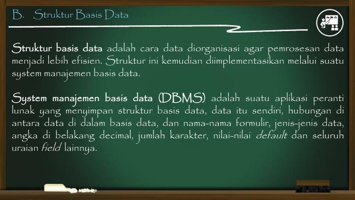 B.    Struktur Basis Data