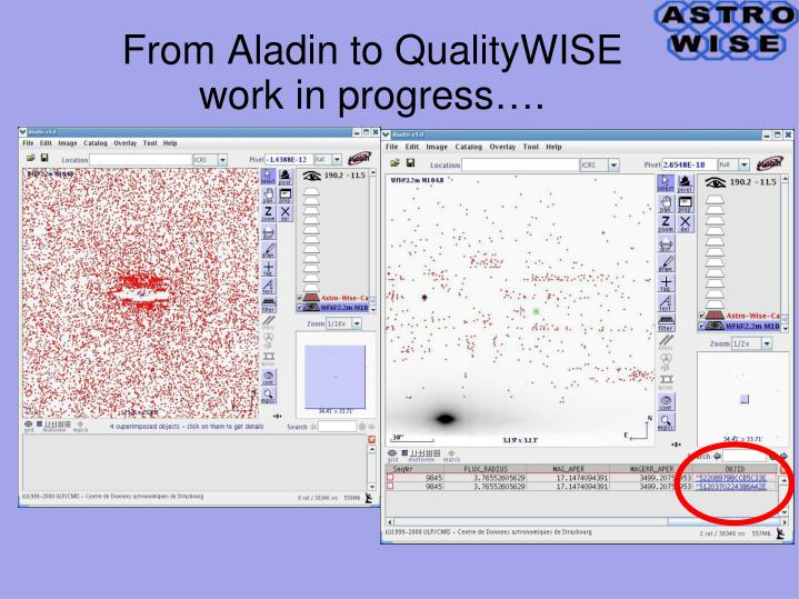 From Aladin to QualityWISE