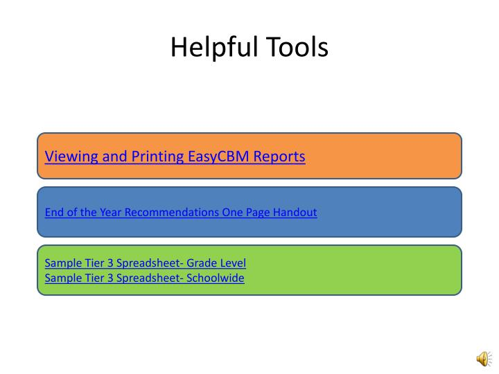 Helpful Tools
