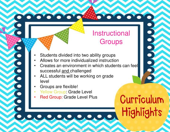 Instructional Groups