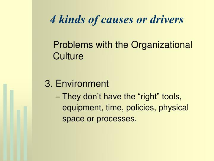4 kinds of causes or drivers