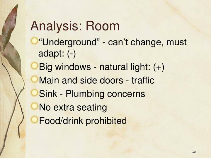 Analysis: Room