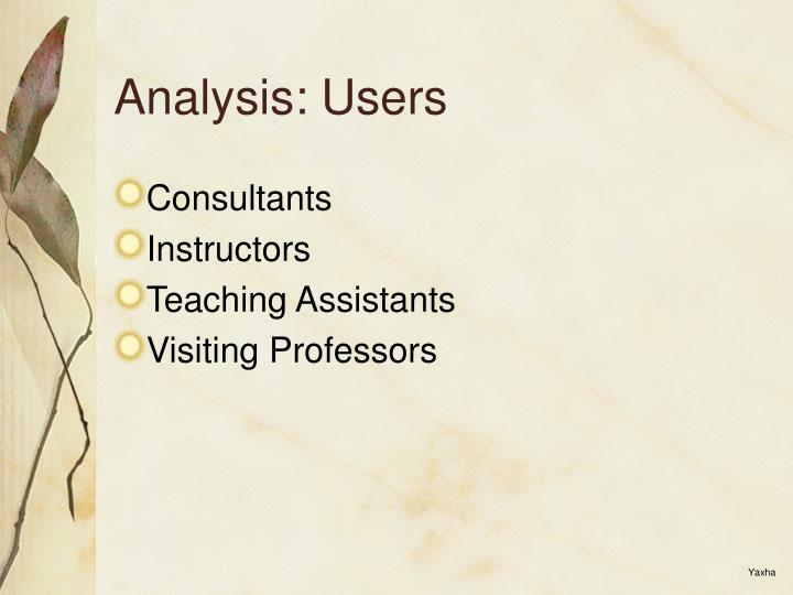 Analysis: Users