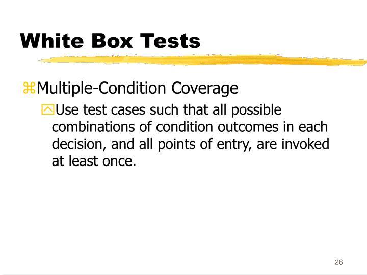 White Box Tests