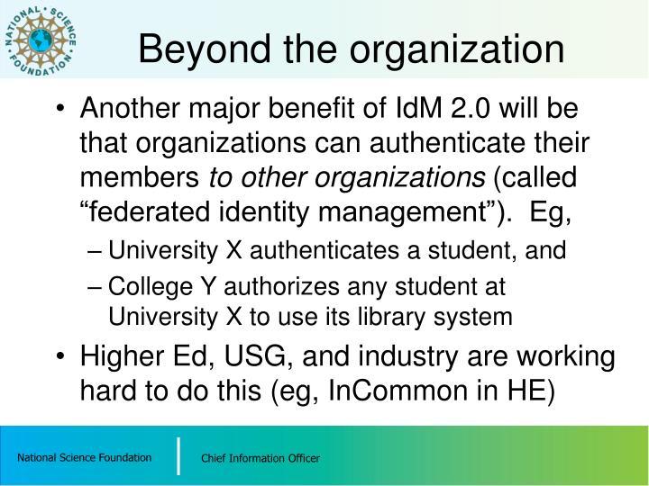 Beyond the organization