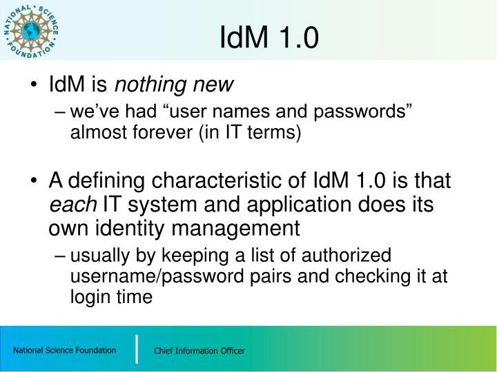 IdM 1.0