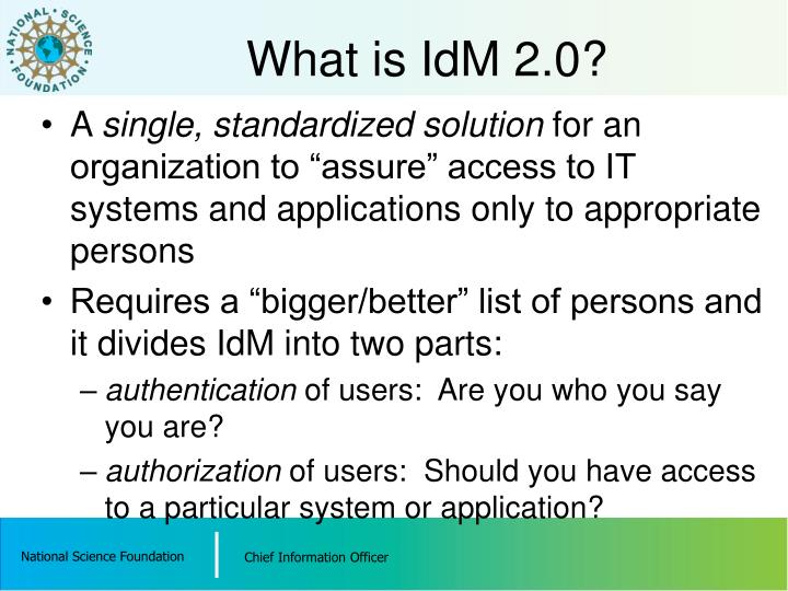 What is IdM 2.0?