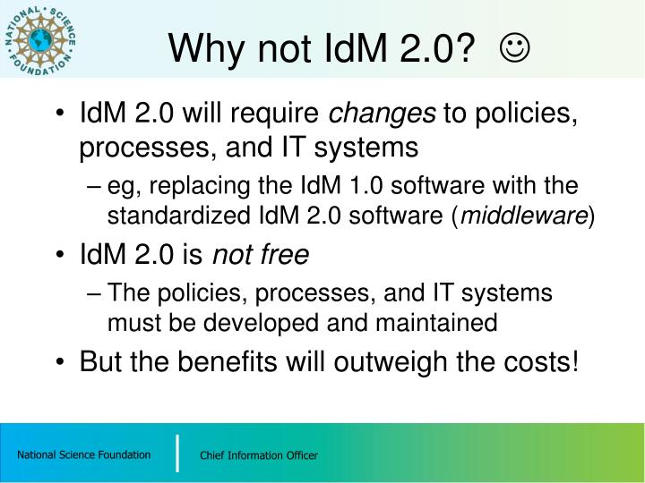 Why not IdM 2.0?