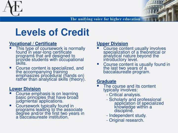 Vocational / Certificate