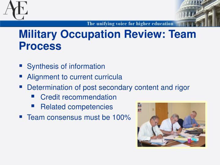 Military Occupation Review: Team Process