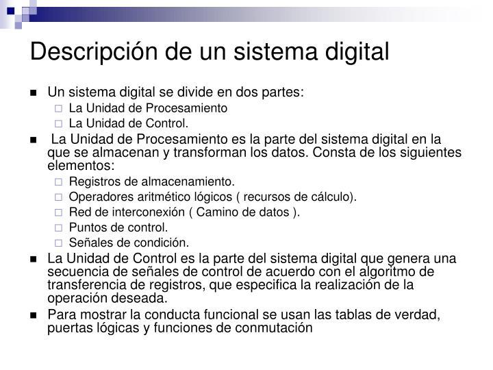 Descripción de un sistema digital