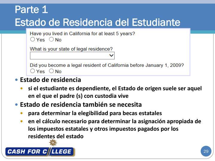 Estado de residencia