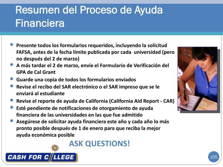 Resumen del Proceso de Ayuda