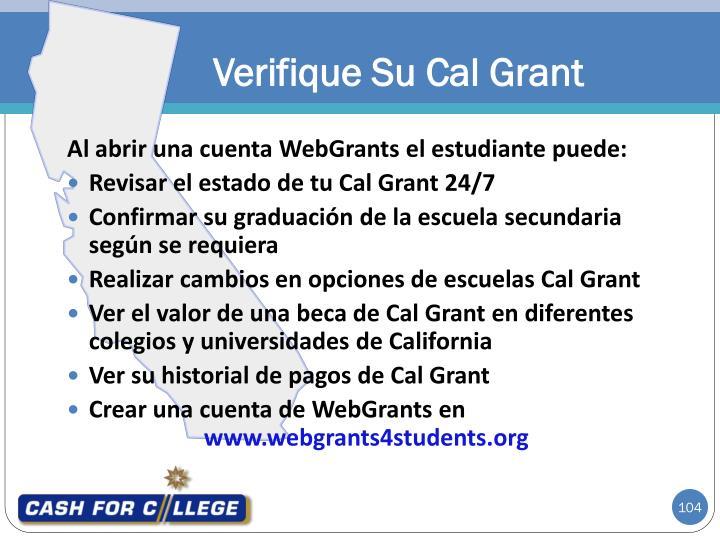 Verifique Su Cal Grant