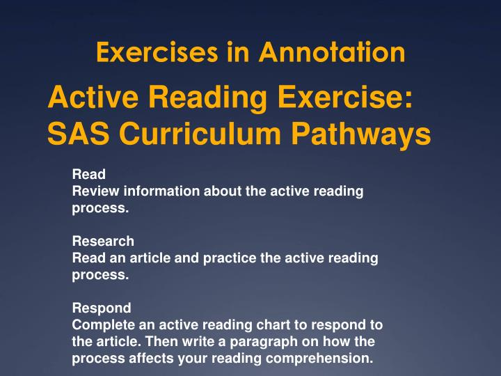 Exercises in Annotation