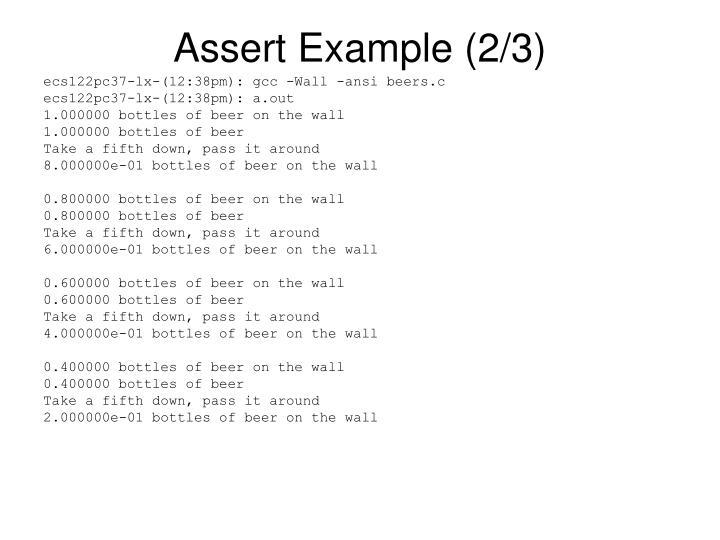 Assert Example (2/3)