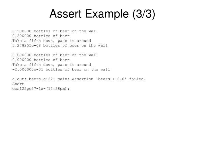 Assert Example (3/3)
