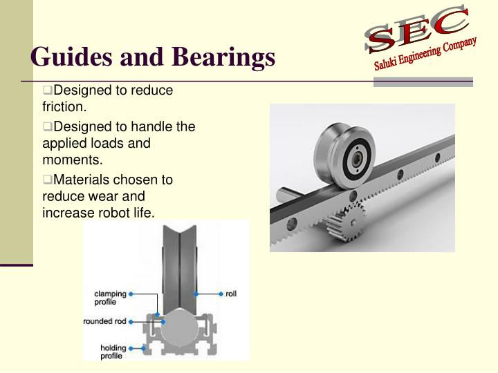 Guides and Bearings