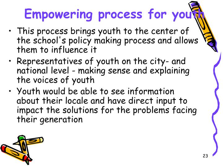 Empowering process for youth