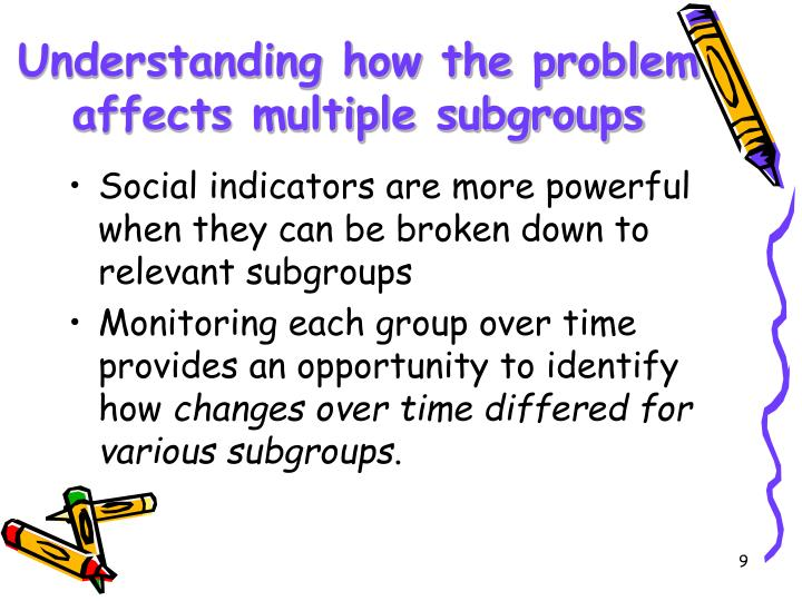 Understanding how the problem affects multiple subgroups