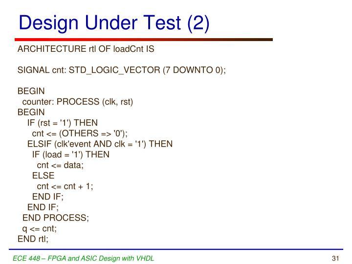 Design Under Test (2)