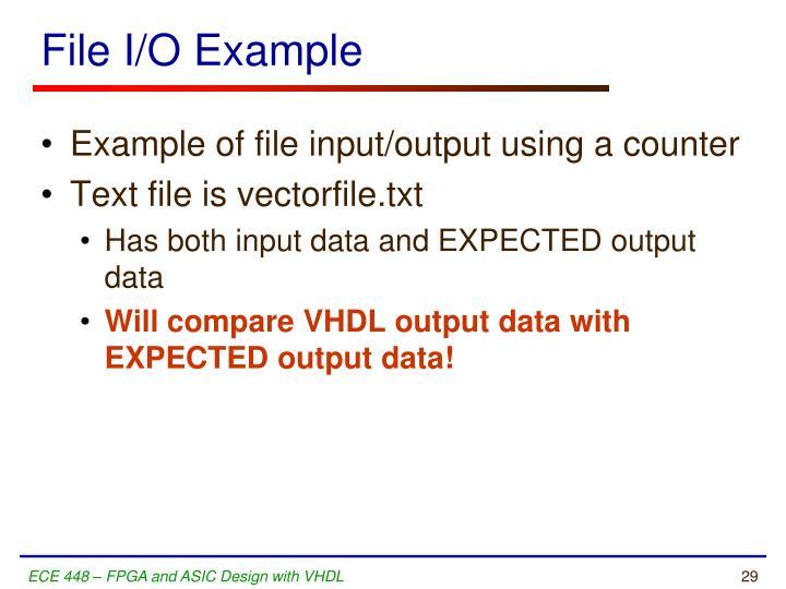 File I/O Example