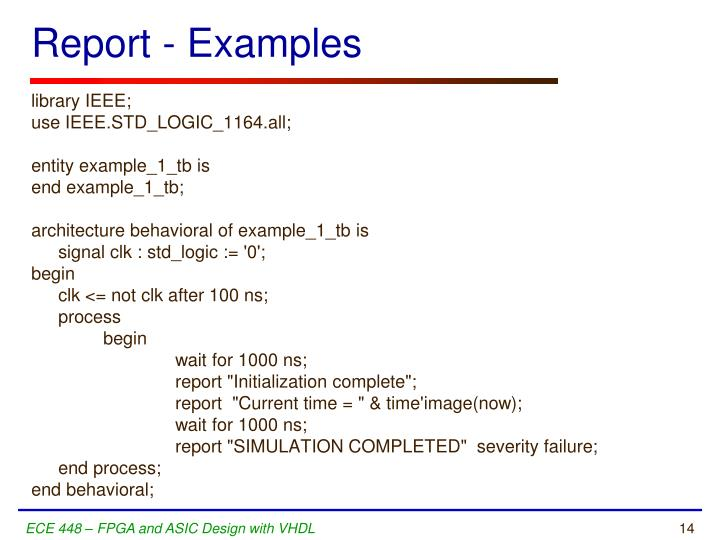 Report - Examples