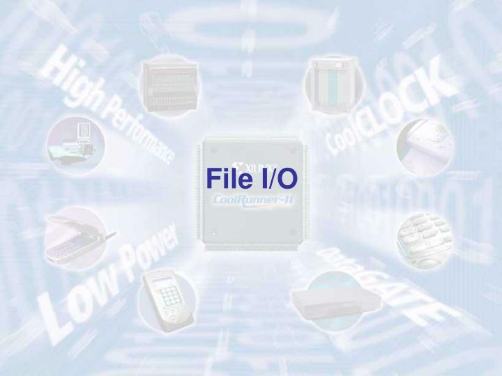 File I/O