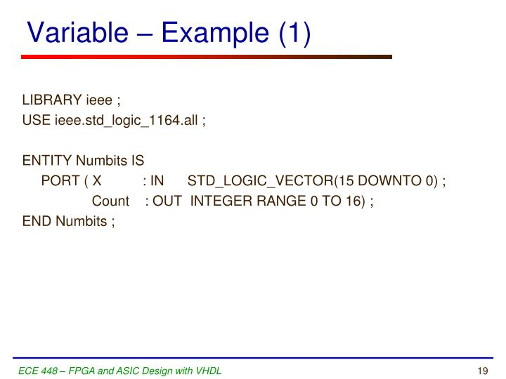 Variable – Example (1)
