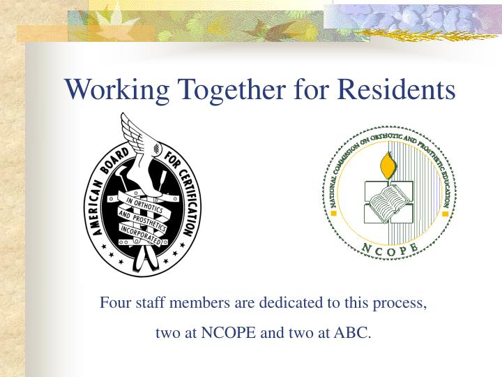 Working Together for Residents