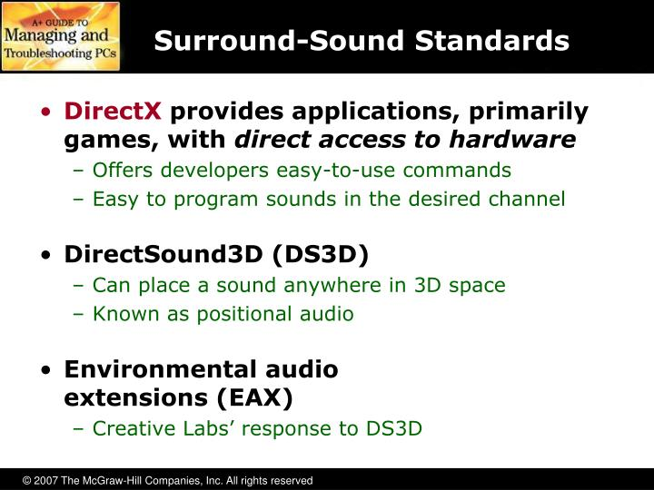 Surround-Sound Standards