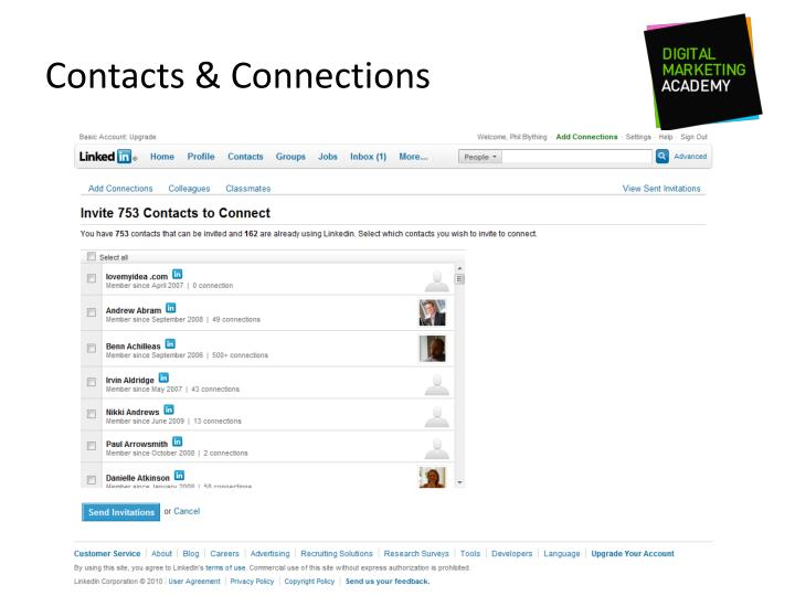 Contacts & Connections