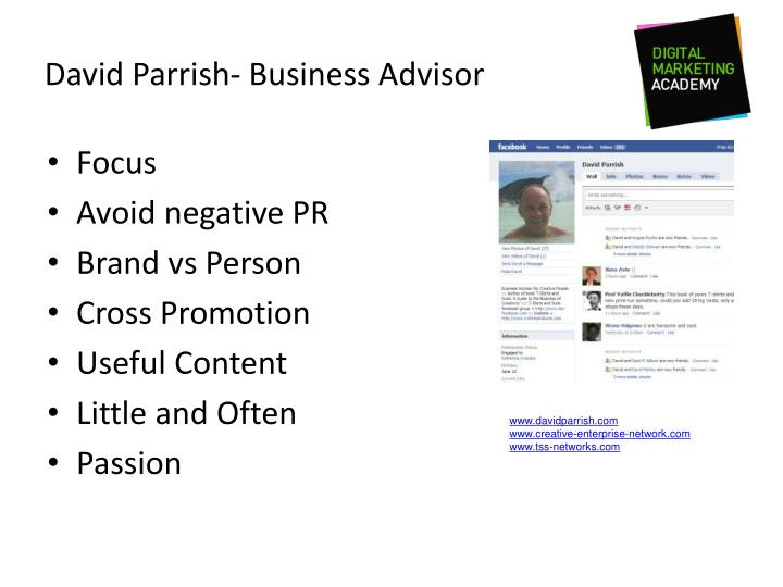 David Parrish- Business Advisor