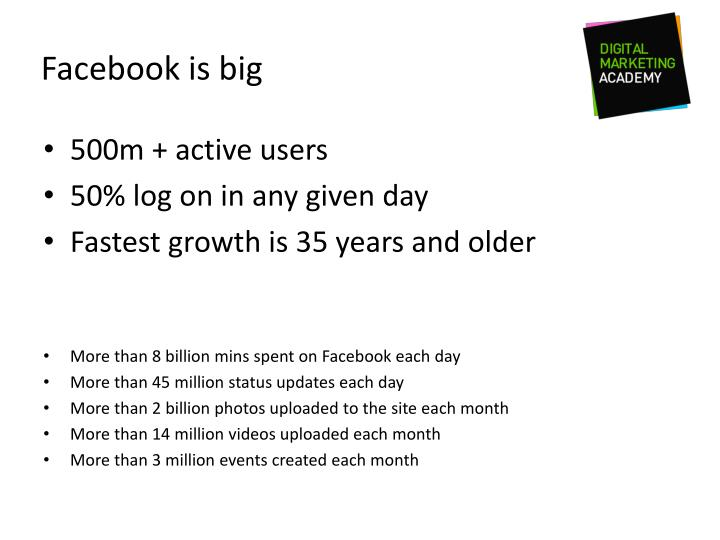 Facebook is big