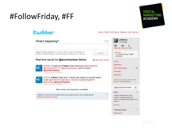 #FollowFriday, #FF