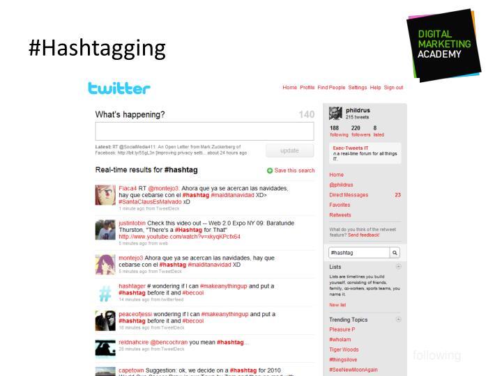 #Hashtagging
