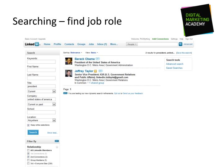 Searching – find job role