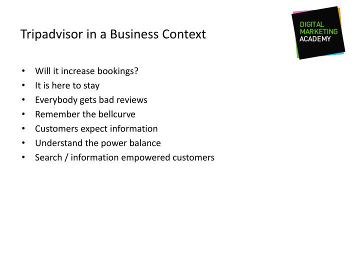 Tripadvisor in a Business Context