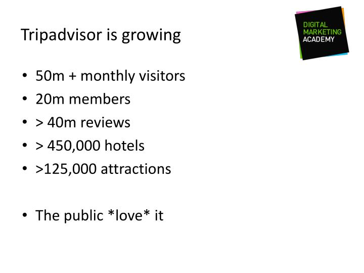 Tripadvisor is growing