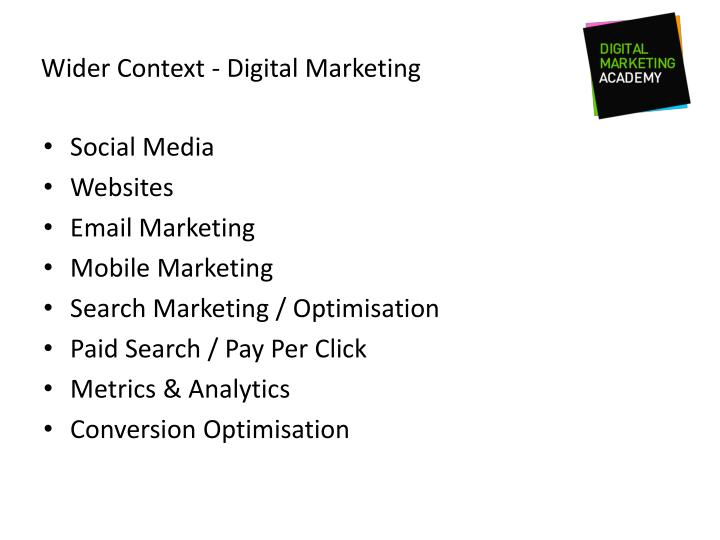 Wider Context - Digital Marketing