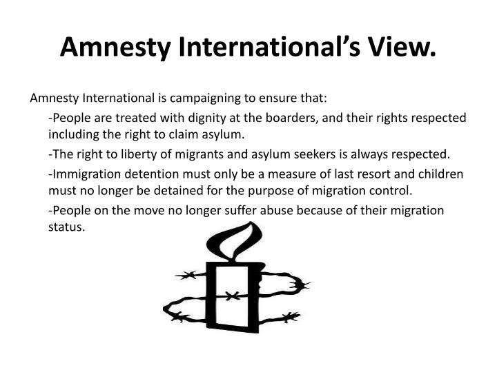 Amnesty international s view