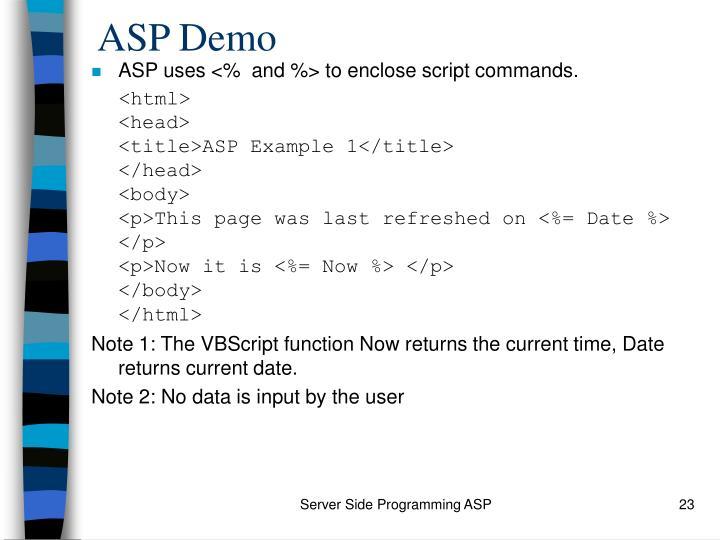 ASP Demo