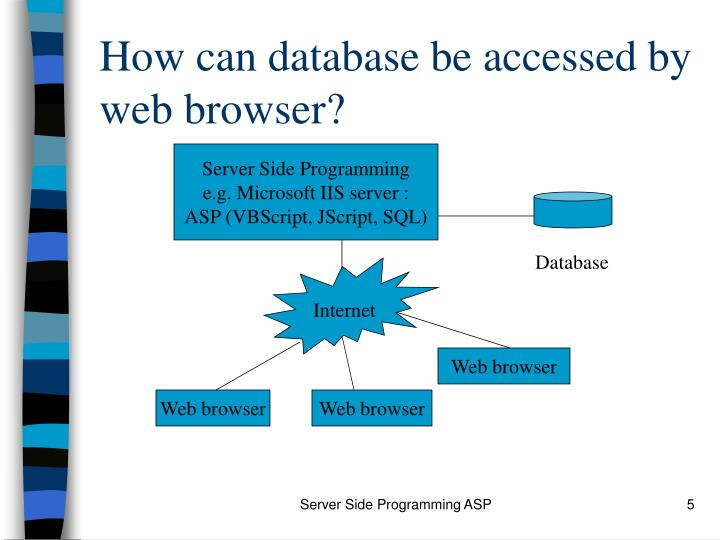 How can database be accessed by web browser?