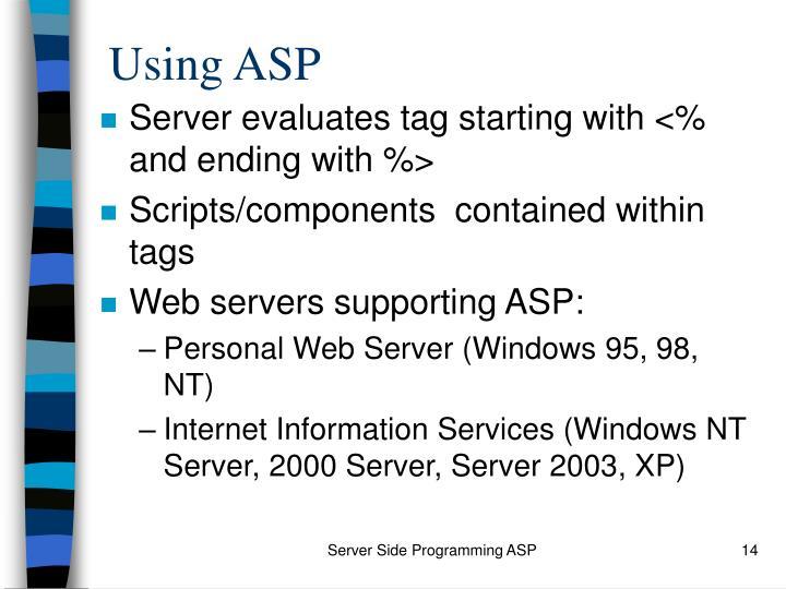 Using ASP