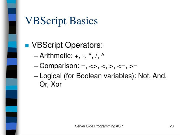 VBScript Basics