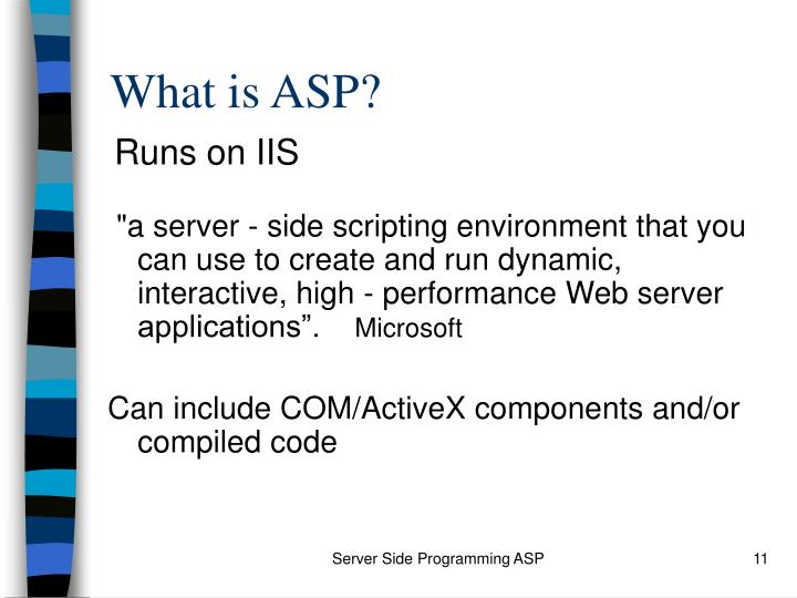 What is ASP?